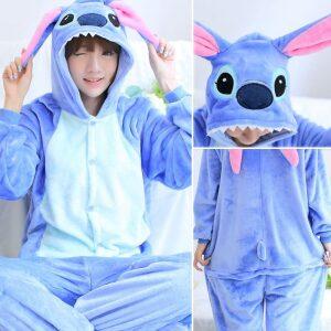 Lilo y stitch pijama de franela(invierno)