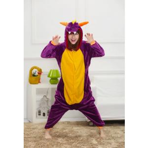 Disfraz de Spyro el dragón Kigurumi Unisex