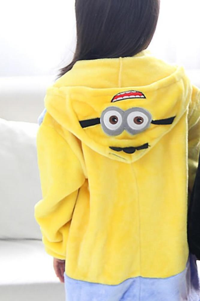 Pijama de minion para niños kigurumi