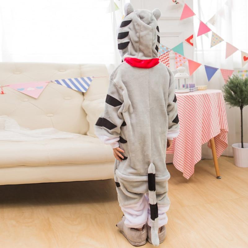 Pijama de gato para niños kigurumi