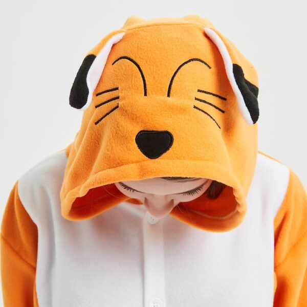capucha de esquijama de zorro