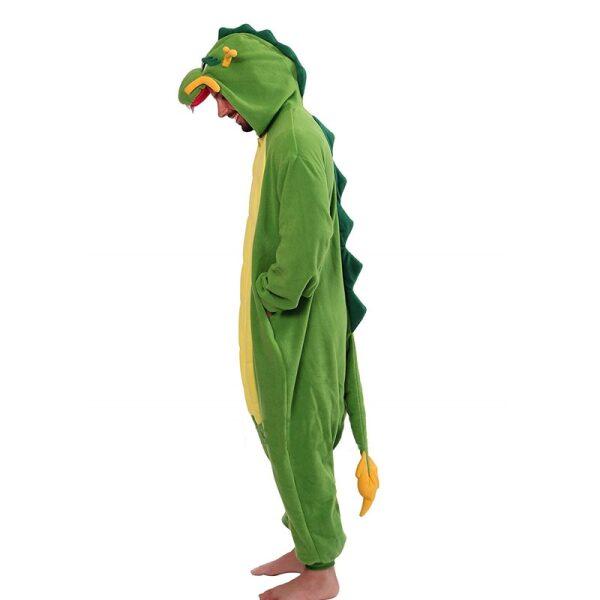 pijama de dragon chino verde
