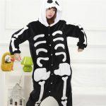 Pijama de esqueleto kigurumi