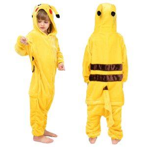 Pijama de Pikachu para niños kigurumi