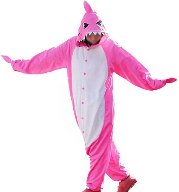 disfraz de tuburón rosa