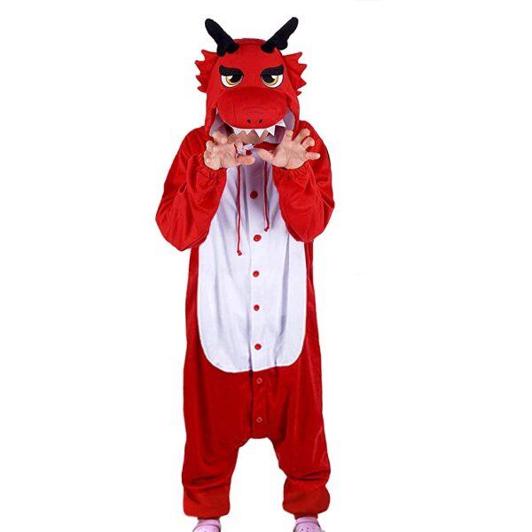 esquijama de dragon para niños