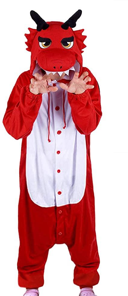 Pijama de cuerpo entero de Dragón Rojo
