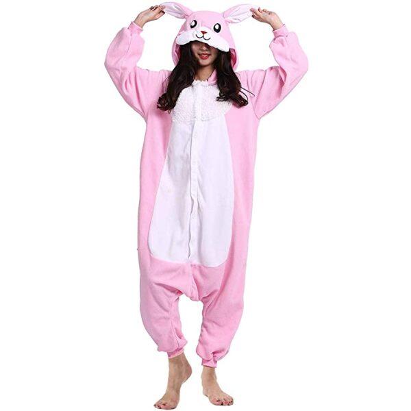 kigurumi conejo rosa