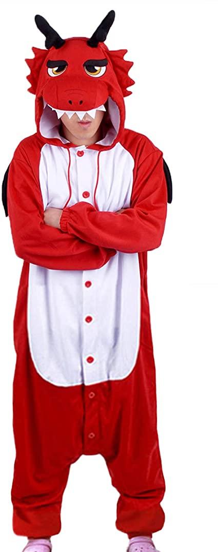kigurumi de dragon rojo