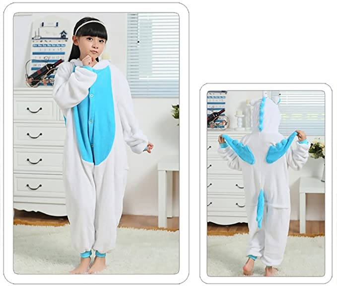 Kigurumi de Unicornio para niño Pijama de Cuerpo Entero