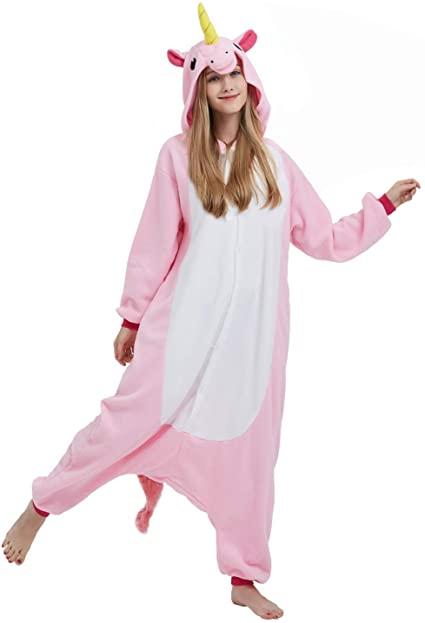 Kigurumi de Unicornio Rosa Pijama de Cuerpo Entero