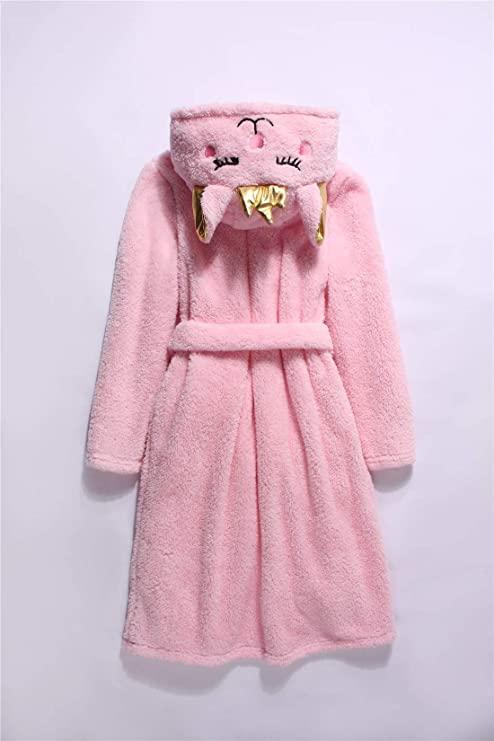 Bata con capucha de Gato rosa
